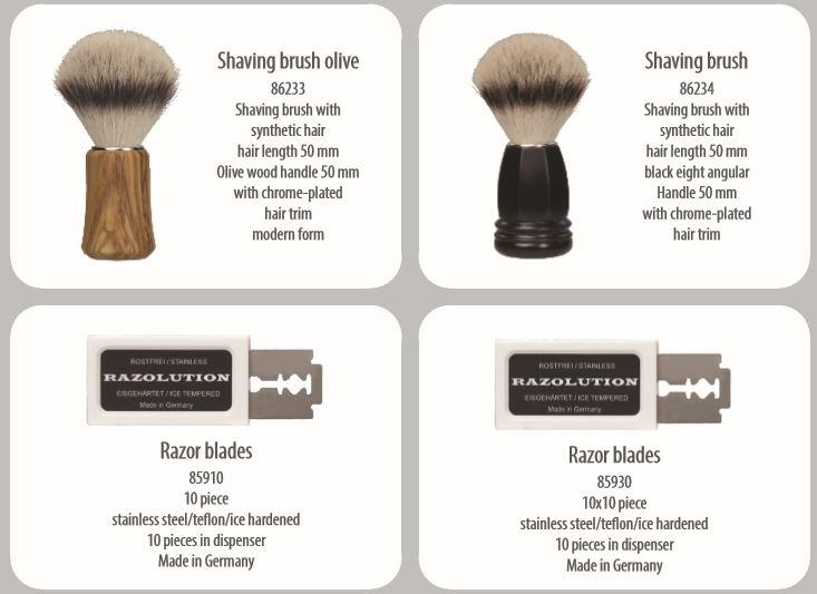 accesorios barbero o para afeitar hechos a mano