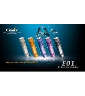Mini Linterna Led Fénix E01 13 Lumens (solo negro en stock)