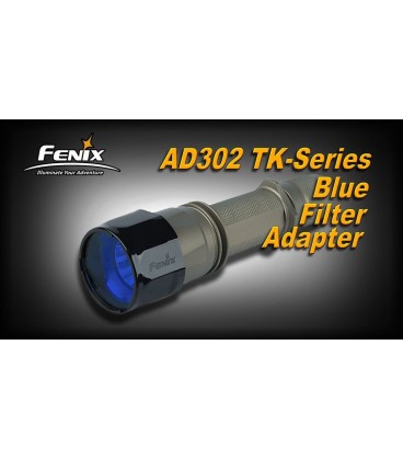 Filtro Azul Para Linternas Led Fénix Tk16, Tk15, Tk12, Tk11 Y Rc10 Ref. AD302-B