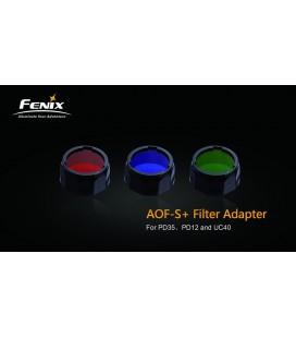 Filtro Pequeño Azul Para Linternas Led Fénix Uc30-2017, Uc35V2, Rc11, Pd35, Ref. AOF-S+(blue)