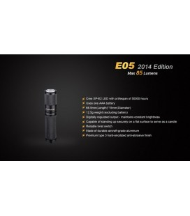 Mini Linterna E05 85 Lumenes Ref. E05-N