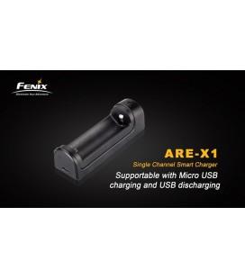 Cargador Fénix de 1 canal para 18650 y 26650 Ref. Are-X1