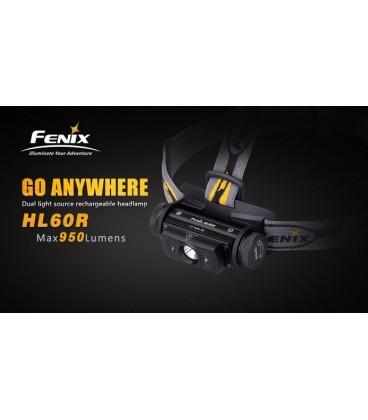 Frontal Led Fénix HL60R 950 Lúmenes (micro usb recargable-incluye batería 18650)