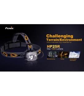 Frontal Fénix HP25R 1000 lúmenes (micro usb recargable-incluye batería 18650)