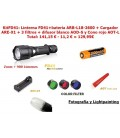 PackFD41: Linterna FD41 + batería ARB-L18-2600 + Cargador ARE-X1 + 3 filtros + Cono Rojo AOT-L + Difusor AOD-M