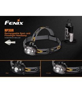 Frontal Fénix HP30R 1750 lúmenes (recargable, incluye 2 baterías 3.6V 2600 mAh) Solo disponible en negro