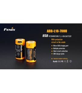Batería Fénix ARB-L16-700U recargable por micro USB 16340