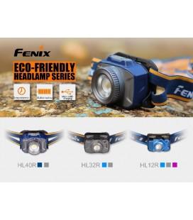 Frontal Fénix HL12R 400 lúmenes recargable USB de litio polimero