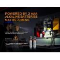 Linterna Fénix WF05 ATEX 85 lúmenes (incluye 2 x AAA)