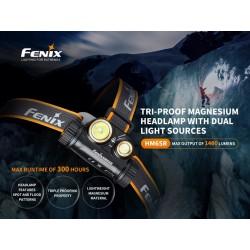 Frontal Fenix HM65R 1400 lúmenes (incluye batería 18650 3500 mAh)