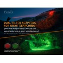 Linterna HT18 1500 lúmenes para la caza luz blanca, verde y roja