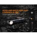 Frontal HM61R 1200 lúmenes (luz roja y blanca)