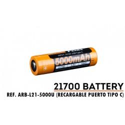 ARB-L21-5000U: Batería 21700 de 5000 mAh carga micro USB (SOLO Para HT18, TK22-UE, TK22-V2.0, TK30R, E35-V30 y PD36R)