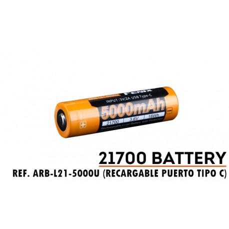 ARB-L21-5000U: Batería Fenix 21700 de 5000 mAh y carga por micro USB