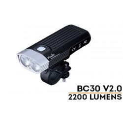 Foco Bici BC30-V2.0 2200 Lumenes (no incluye baterías). Funciona con dos baterías 18650