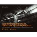 Linterna laser Fenix TK30R 1200 mts distancia del haz