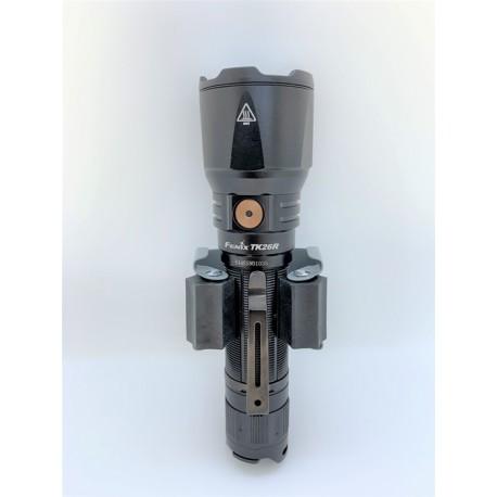 Soporte pared o en el coche para Linterna TK26R o diámetros cuerpo 25,4 mm