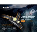 Frontal Fenix HM65R 1400 Lúmens + Gratis E01-V2.0