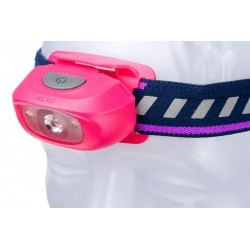 Frontal Led Fénix HL16 70 lúmenes (color rosa)