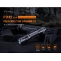 Fénix PD32 V2.0 de 1200 Lúmenes y 395 metros, 3 Modos y Estrobo