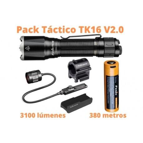 Pack Táctico TK16 V2.0 + pulsador remoto + soporte pulsador a arma + sujeción linterna a arma