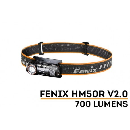 Frontal Fénix HM50R-V2 con 700 Lúmenes Recargable